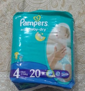 PAMPERS Active Baby Maxi 8-14 кг., 20 шт.
