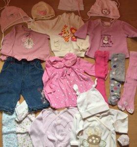 Пакет вещей на девочку 3-6 месяцев