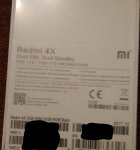Xiaomi Redmi 4х 3/32, новый, глобальная версия
