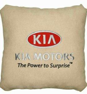 Подушка KIA светло-бежевая