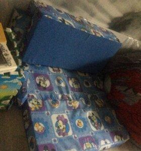 Детский диван игрушка пуф раскладная кровать