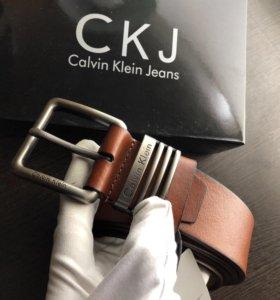 Классический Ремень Ck светло коричневого цвета