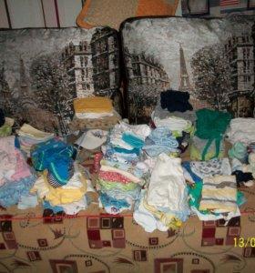 Вещи 230 штук пакетом на мальчика