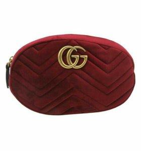 Новая сумка на пояс Gucci Velvet.