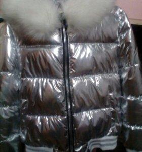 куртка цвет металлика