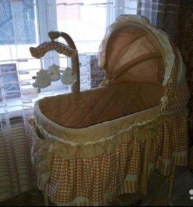Кроватка-колыбель Babyton Бежевая