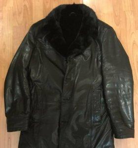 Зимняя кожаная куртка
