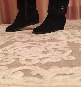 Зимние ботинки замшевые 39-40 размер