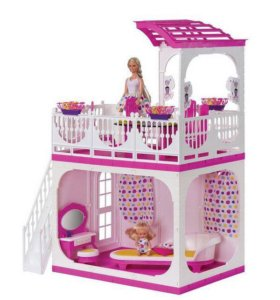 "Дом для кукол с верандой""Зефир"" 57х30х77 см."