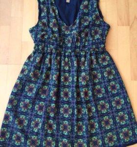 Цветастое платье от forever 21 оригинал на 46