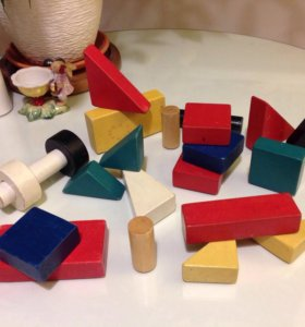 Кубики деревянные ИКЕА МУЛА