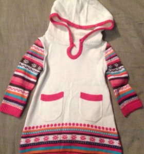 Платье/туника - тонкий вязаный трикотаж