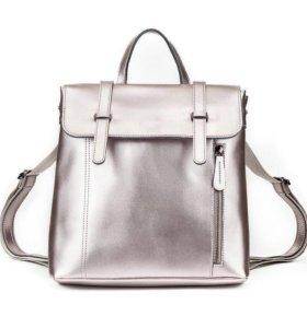 Рюкзак-сумка трансформер Натуральная кожа.новый.
