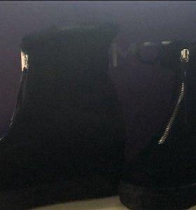 Ботинки нат замша, нат мех
