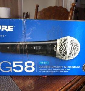 Профессиональный микрофон SHURE PG 58