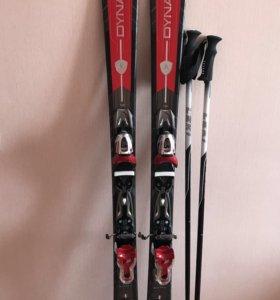 Комплект: горные лыжи, ботинки, палки