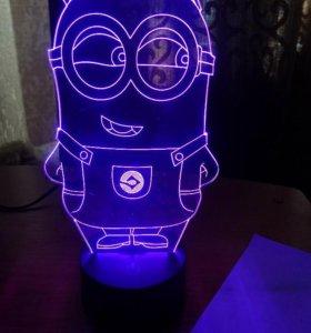 3D Лампа-миньон