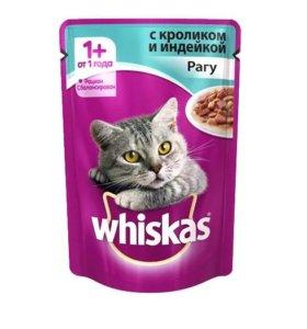 Whiskas Рагу с кроликом и индейкой 1+, 1 шт.