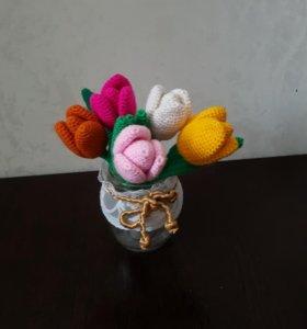 Вязанные тюльпаны