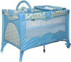 Развивающая манеж-кроватка с пеленальным столиком