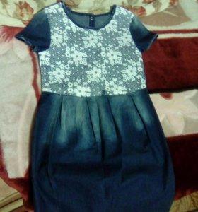 Джинсовое платье для девочки.