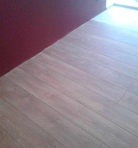 Укладка ламината фанеры ковролина плитки