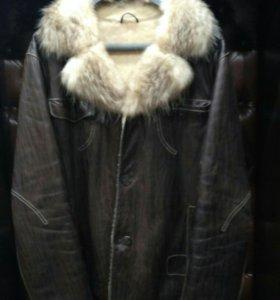 Куртка мужская ( зима,мех, кожа натуральная )
