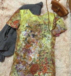 Платье из 100% натуральной шерсти