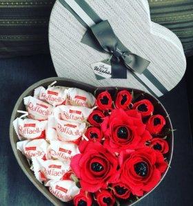 Букет из конфет , подарок на 14 февраля