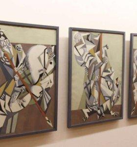 Триптих «Всадники» картины