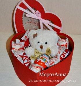 Коробочка-сердце ко дню Влюбленных