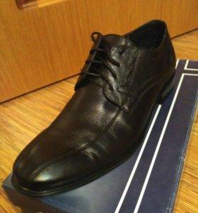 Мужские кожаные туфли р.42-43