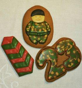 Набор Подарок к 23 февраля имбирное печенье