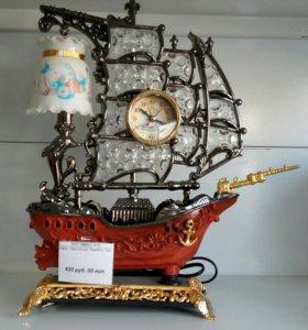 Часы светильник