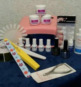 Маникюрный набор для наращивания ногтей с Уф лампо