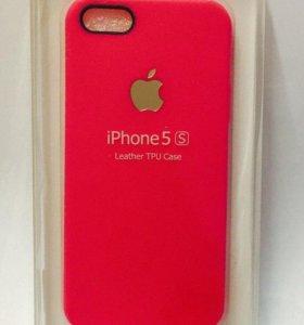 Накладка на iPhone 5 Leather TPU Case