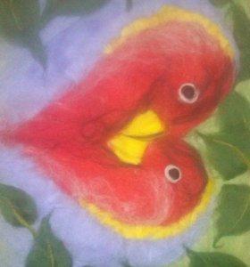 Картины шерстяная акварель