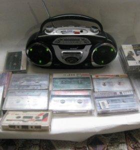 радио магнитофон 90 годов с кассетами