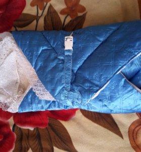 Одеяло весна-осень на синтепоне для новорожденного