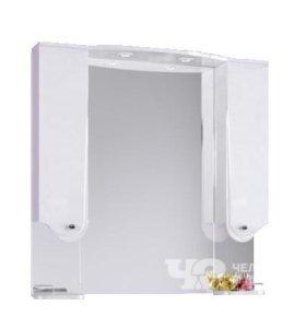 Зеркало со шкафом, полкой и светильником, 100 см