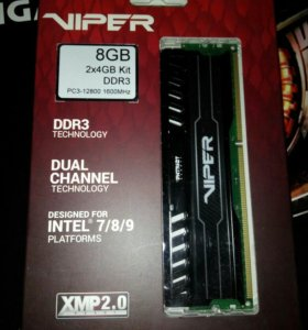 Оперативная память DDR3 8GB (2x4gb) Patriot Viper