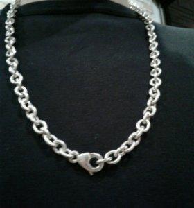 Цепь якорная серебряная