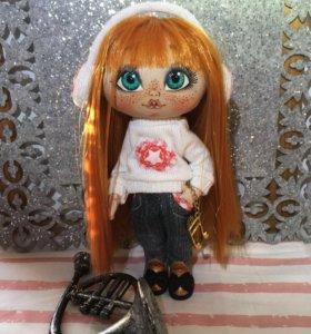 Коллекционная авторская кукла. Текстильная кукла