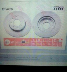 Тормозные диски вентилируемые corsa-s