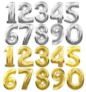 Фольгированные воздушные шары цифры