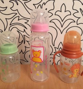 Бутылочки 3 шт