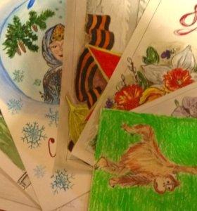 Рисунки на заказ в школу и садик