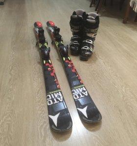 Лыжи горные + ботинки