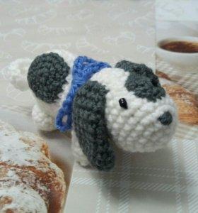 Вязаный пёс