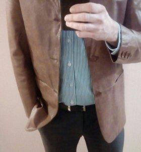 Пиджак куртка кожанная